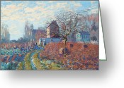 Ete Greeting Cards - Gelee Blanche Greeting Card by Alfred Sisley