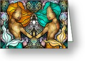 Pearls Greeting Cards - Gem and I Greeting Card by Mandie Manzano