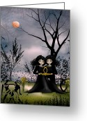 Twins Greeting Cards - Gemini Greeting Card by Charlene Zatloukal