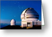 Observatories Greeting Cards - Gemini North Telescope, Hawaii Greeting Card by David Nunuk