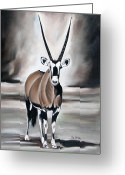 Ilse Kleyn Greeting Cards - Gemsbok - Solitude Greeting Card by Ilse Kleyn