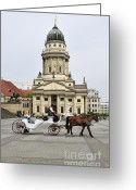 Horse And Buggy Greeting Cards - Gendarmenmarkt Berlin Germany Greeting Card by Matthias Hauser