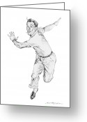 Musicals Greeting Cards - Gene Kelly Greeting Card by David Lloyd Glover