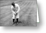 Professional Golfers Greeting Cards - Gene Sarazen playing golf Greeting Card by International  Images