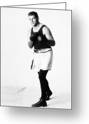 Glove Greeting Cards - Gene Tunney (1898-1978) Greeting Card by Granger