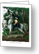 Patriot Mixed Media Greeting Cards - General Andrew Jackson On Horseback Greeting Card by War Is Hell Store