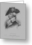 Us Patriot Greeting Cards - General Anthony Wayne Greeting Card by War Is Hell Store