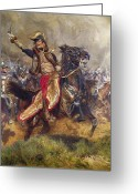 Gallop Greeting Cards - General Antoine-Charles-Louis Lasalle Greeting Card by Jean Baptiste Edouard Detaille