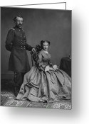 American Generals Greeting Cards - General Custer and His Wife Libbie Greeting Card by War Is Hell Store