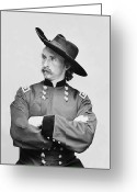 Bighorn Greeting Cards - General Custer Greeting Card by War Is Hell Store