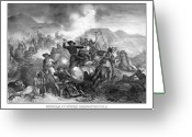 Cavalry Greeting Cards - General Custers Death Struggle  Greeting Card by War Is Hell Store