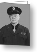President Eisenhower Greeting Cards - General Dwight D. Eisenhower Greeting Card by War Is Hell Store