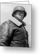 American Generals Greeting Cards - General George S. Patton Greeting Card by War Is Hell Store