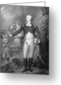 Military Hero Drawings Greeting Cards - General George Washington at Trenton Greeting Card by War Is Hell Store