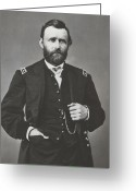 American Generals Greeting Cards - General Grant During The Civil War Greeting Card by War Is Hell Store