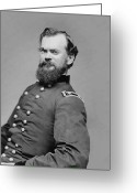 Civil Greeting Cards - General James McPherson  Greeting Card by War Is Hell Store
