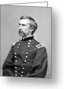 Round Greeting Cards - General Joshua Lawrence Chamberlain Greeting Card by War Is Hell Store