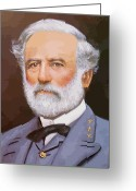 American History Painting Greeting Cards - General Lee Greeting Card by War Is Hell Store