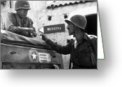 American History Painting Greeting Cards - General Patton In Sicily Greeting Card by War Is Hell Store