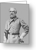 Rebel Greeting Cards - General Robert E Lee Greeting Card by War Is Hell Store