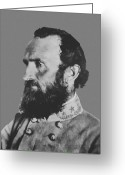 Military Photo Greeting Cards - General Stonewall Jackson Greeting Card by War Is Hell Store