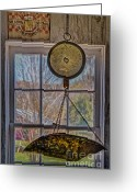 Scale Digital Art Greeting Cards - General Store Scale Greeting Card by Susan Candelario