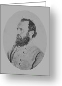General Jackson Greeting Cards - General Thomas Stonewall Jackson Greeting Card by War Is Hell Store