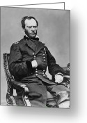 William Greeting Cards - General William Sherman Greeting Card by War Is Hell Store