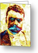 Zapata Greeting Cards - General Zapata Greeting Card by Juan Jose Espinoza