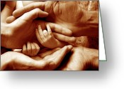 Gentle Touch Photo Greeting Cards - Generations Greeting Card by Victor De Schwanberg