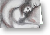Embrace Drawings Greeting Cards - Generous I Greeting Card by Marat Essex