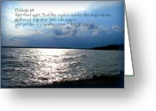 Trish Greeting Cards - Genesis  Greeting Card by Trish Clark