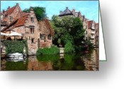 Urban Pastels Greeting Cards - Gent Greeting Card by Stefan Kuhn