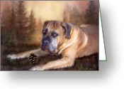 Canine Art Greeting Cards - Gentle Ben Greeting Card by Carol Cavalaris