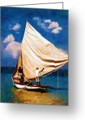 West Indies Greeting Cards - Gentle Winds Greeting Card by Diane E Berry