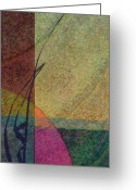 Earth Tones Greeting Cards - Geo Greeting Card by Gordon Beck
