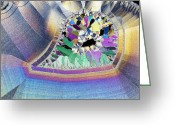Geode Greeting Cards - Geode In Thin Section Greeting Card by Dirk Wiersma