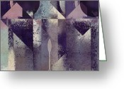 Geometric Digital Art Greeting Cards - Geomix-04 - c57at22b2e Greeting Card by Variance Collections
