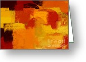 Geometric Digital Art Greeting Cards - Geomix 05 - 01at01b Greeting Card by Variance Collections