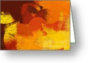 Geometric Digital Art Greeting Cards - Geomix 05 - 01at02 Greeting Card by Variance Collections