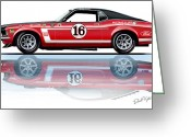 David Kyte Greeting Cards - Geore Follmer Trans Am Mustang Greeting Card by David Kyte