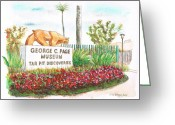 California Landscapes Greeting Cards - George-C-Page-Museum-Los-Angeles-CA Greeting Card by Carlos G Groppa
