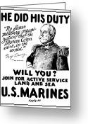 Marine Corps Greeting Cards - George Dewey US Marines Greeting Card by War Is Hell Store