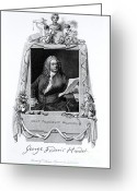 Georg Greeting Cards - George Frideric Handel, German Baroque Greeting Card by Omikron