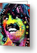 Beatles Painting Greeting Cards - George Harrison Greeting Card by Dean Russo