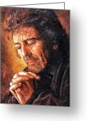 George Harrison Painting Greeting Cards - George Greeting Card by Igor Postash