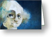 Featured Painting Greeting Cards - George Greeting Card by Kurt Riemersma