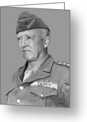 World War One Greeting Cards - George S. Patton Greeting Card by War Is Hell Store