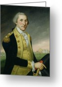 Colonial Man Painting Greeting Cards - George Washington at Princeton Greeting Card by Charles P Polk
