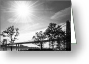 Gw Bridge Greeting Cards - George Washington Bridge Morning Light Greeting Card by Regina Geoghan